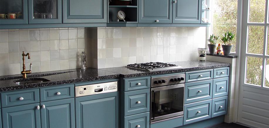 Wandtegels keuken blauw inspiratie het beste interieur - Keuken blauw en wit ...
